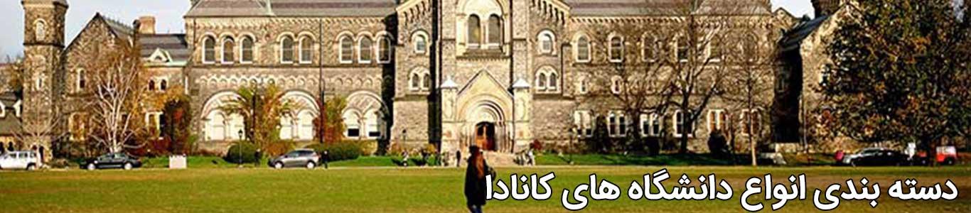 دسته بندی دانشگاه های کانادا